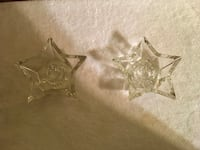 2 clear glass candle holders Islip, 11722