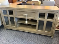 New Helena Solid Wood Grey TV Stand
