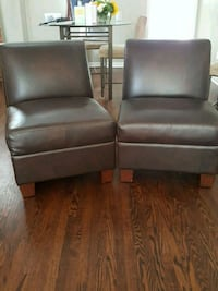 Chocolate brown club chairs Mississauga, L5H 3T1