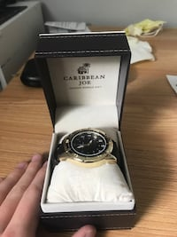 Men's watch, leather and gold Dartmouth, B2W 2H4