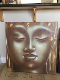 Brown wooden framed painting of woman 36inW 36inH Vallejo, 94589