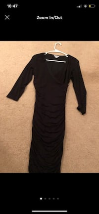 H&M Black Fitted Dress Sz Small Scrunched Manassas, 20111