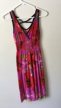 pink, red, and green floral surplice sleeveless maxi dress Baltimore, 21209
