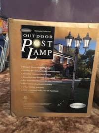 Chandler Nantucket 3 Arm Outdoor Aluminum Lamp Post