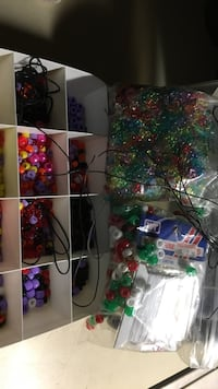 Beads, beads and more beads.  Has instructions, wire and bands and the storage unit Lutherville Timonium, 21093