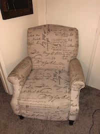 """Decorative chair/recliner. 2'3""""Lx2'9""""Wx3'H(4'9""""W when reclined) San Diego, 92116"""