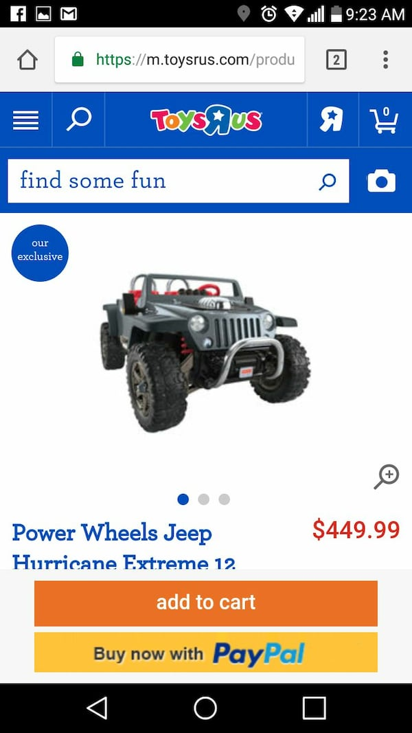 Used Power Wheels Fisher Price Jeep Hurricane Hemi For Sale In