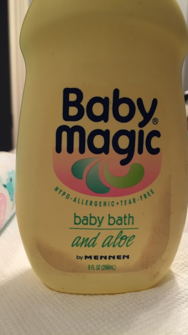 Used baby magic baby bath and aloe by mennen bottle for sale in ...
