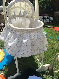 Off white and Beige bassinet