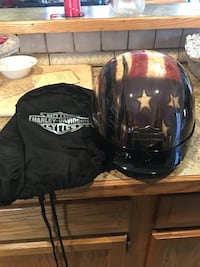 Blue, red, and white harley-davidson open-face helmet Warwick, 02889
