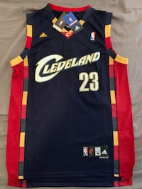 100% Authentic LeBron James Blue/Red Cavaliers Stitched Jersey Arlington, 22203
