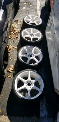 4  19in 4x100  4x114.3 wheels rims and tires Germantown, 20876