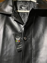 EA Collection Italy Style (Faux) Black Leather Coat Size M Edmonton, T6K 4C3