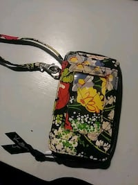 women's white, black, pink, red, and yellow floral wristlet York, 17403