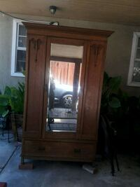 brown wooden framed glass cabinet Paramount, 90723