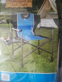 Blue and Black Directors Chair w/Side Table Fairfax, 22032