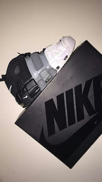 unpaired white, gray, and black Nike shoe with box Beech Island, 29842
