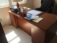 Brown wooden office desk and wall office drawer  Berlin, 01503