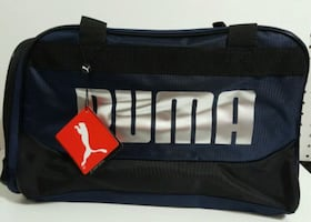 PUMA DUFFEL - BLUE AND BLACK - SILVER LOGO