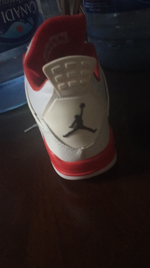 14a04dc5a965 Used unpaired white and red Air Jordan basketball shoe for sale in ...