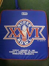 Superbowl cushion and souvenir pouch