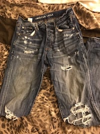 blue denim straight-cut jeans Halifax, B3K 1C7