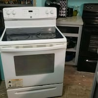 white and black induction range oven Edinburg, 78542