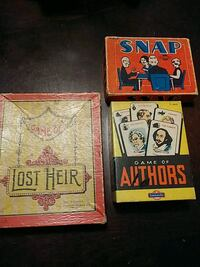 VINTAGE CARD GAMES-LOST HEIR , GAME OF AUTHORS +