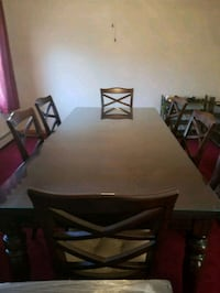 Rustic Brown Dining Set and Server