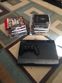 sony ps3 super slim console controller and game lot Calgary, T3J 4R1