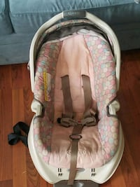 baby's white and pink car seat carrier Falls Church, 22046
