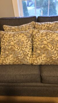 brown and gray floral throw pillow Plainville, 02762