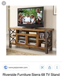 Riverside 2 round end tables and 68in tv stand Sewell, 08080