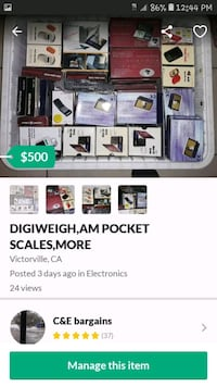 Digiweigh pocket scales