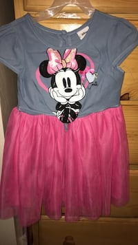Minnie 5t dress hot pink