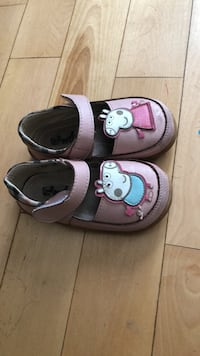 pair of gray-and-pink leather loafers Winnipeg, R3Y 1J3