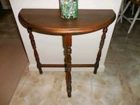 Half Round Walnut Stained Wood Side Table  Alexandria, 22306