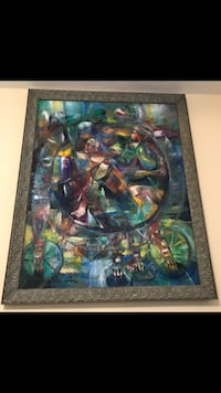 """Miguel Gomez """"from Exodo Galeria"""" oil on canvas New York, 11374"""