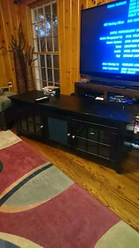 brown wooden TV stand Irving, 75060