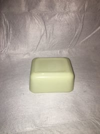 rectangular white and green ceramic bowl Frederick