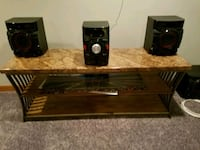 Brown marble TV stand (stereo not included) Waukegan, 60087