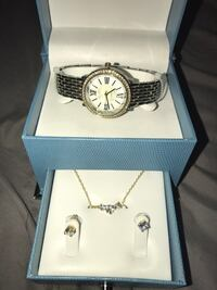 round silver-colored analog watch with link bracelet El Monte, 91731