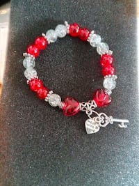 red and clear beaded bracelet Nashua, 03060