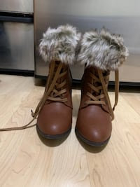 Fur Heel Booties - Size 9 Somerville, 02143