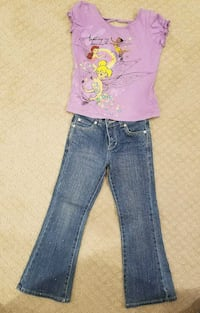 Girl's sparkly jeans and t-shirt. 6 years old.  Springfield, 22153