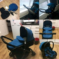 baby's blue and black travel system Rochdale, OL12