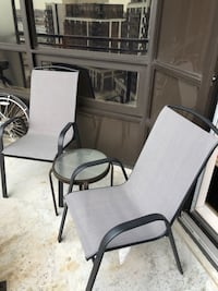 Negotiable. Patio set. Two chairs small table outdoor 548 km