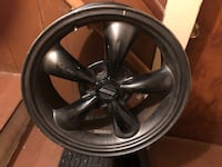 4 snow studded tires with Americanmuscle rims