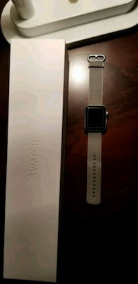 silver aluminum case Apple Watch with white sport band Norfolk, 23523