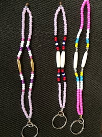 three pink, white, and purple beaded necklaces Edmonton, T5A 2S8